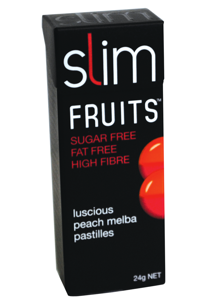 Slim Fruits Luscious Peach Melba pastilles